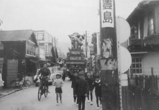 昭和40年10月15日原之前だんじり(新町通り)