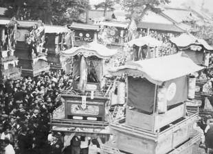 昭和29年 東光、山道だんじり(御旅所)